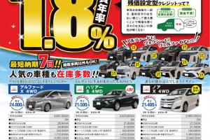 【特典付き】トヨタ新車残価設定型クレジットプラン!【実質年率1.8%】