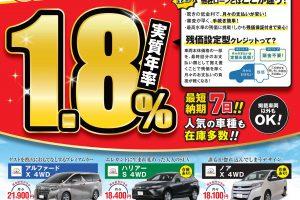 【5月末まで】クーポン付きトヨタ新車残価設定型クレジットプラン